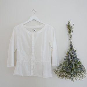 Crisp White Cotton Blouse